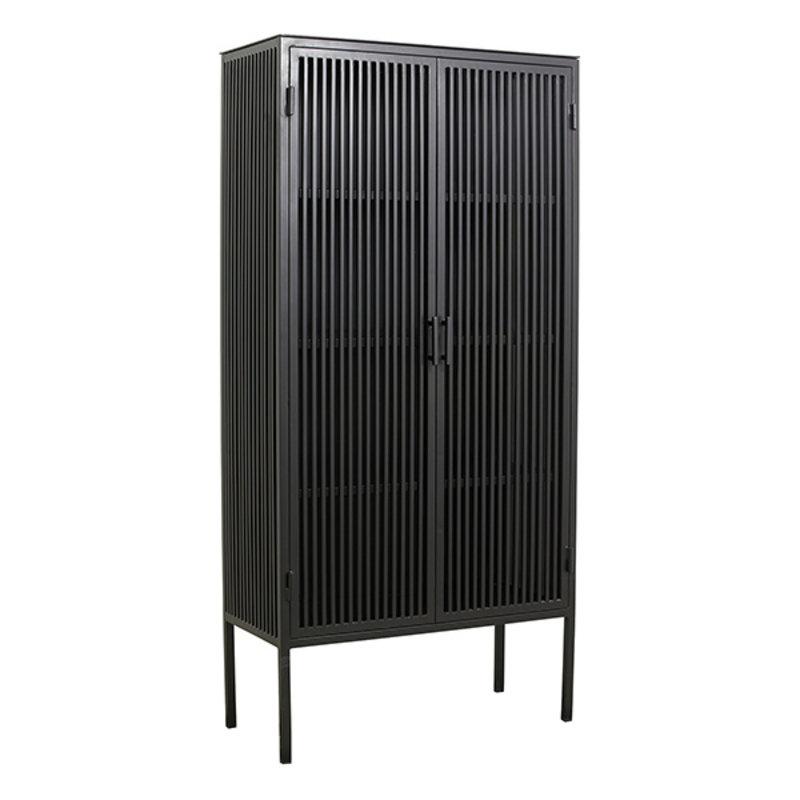 Nordal-collectie Metalen kast LIAO 2-deurs zwart