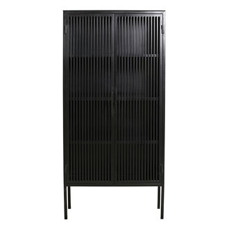 Nordal LIAO black cabinet, 2 doors, iron
