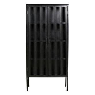 Nordal Metalen kast LIAO 2-deurs zwart