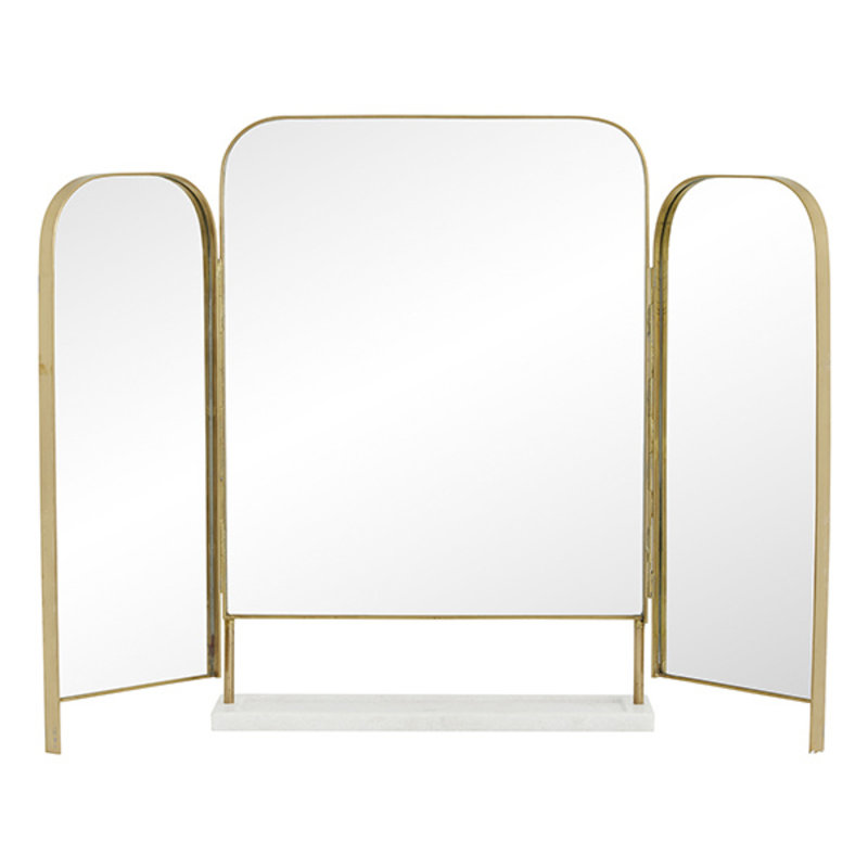 Nordal-collectie OTUS table mirror,  golden edge