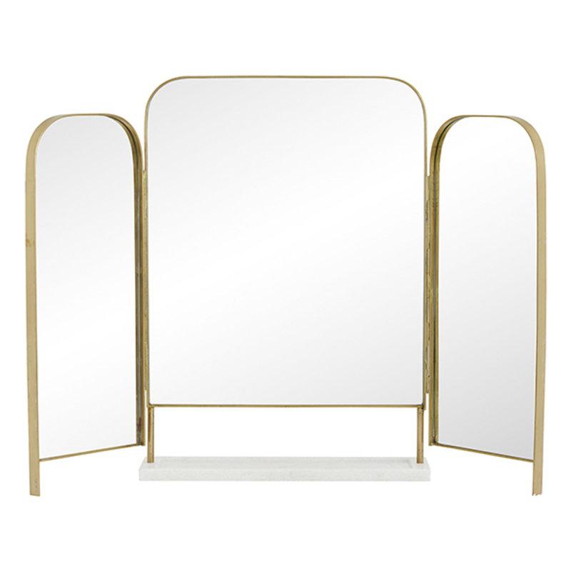 Nordal-collectie Tafelspiegel OTUS goud met marmeren bakje