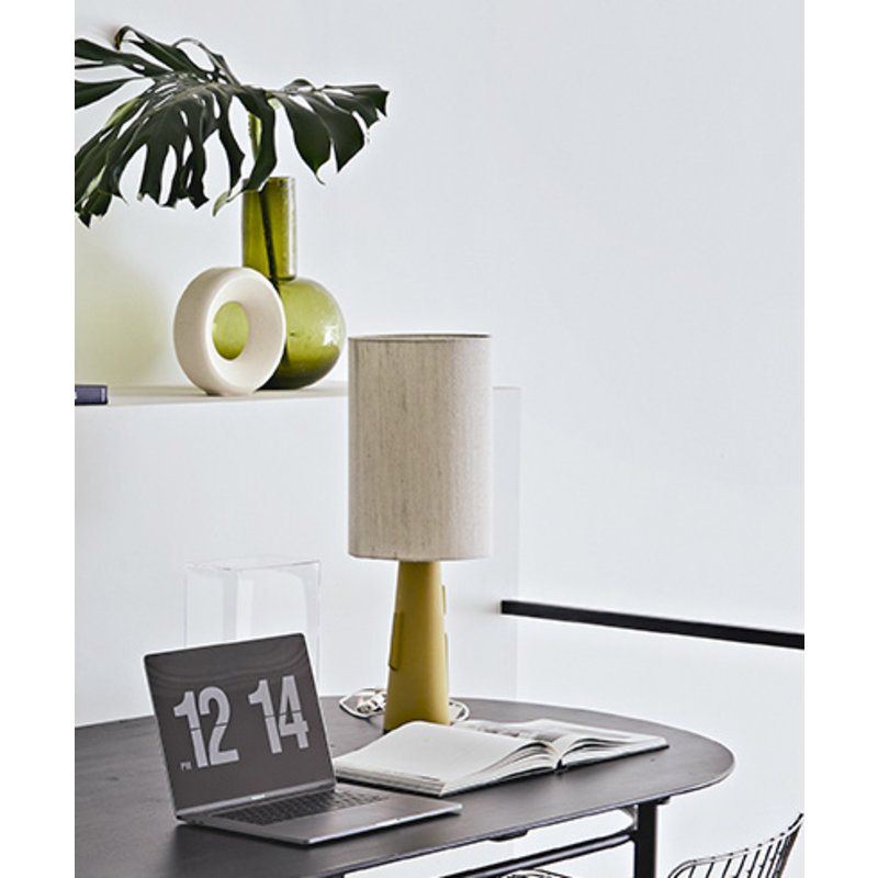 HKliving-collectie Cone lamp base S with handles matt green