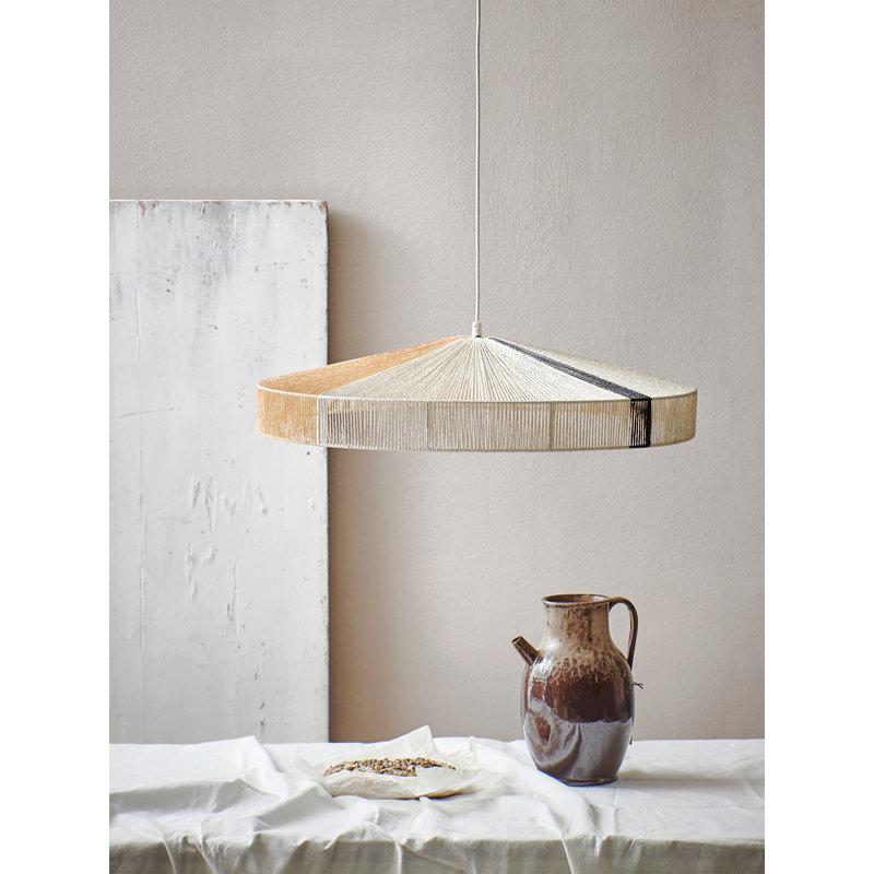 HKliving-collectie pendant rope lamp black stroke