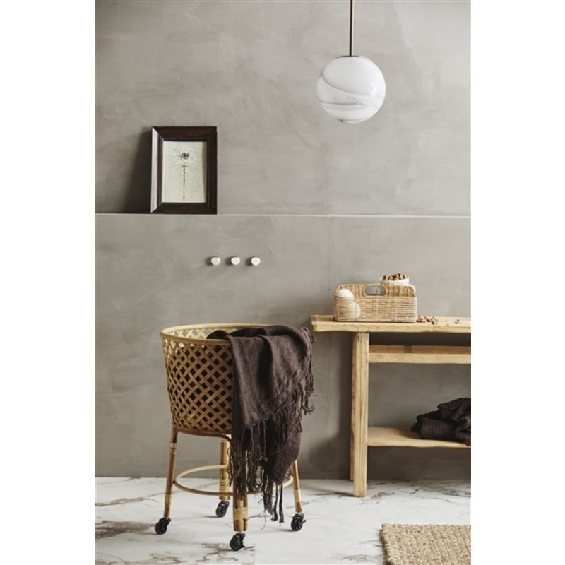 Nordal-collectie Bamboe ronde trolley ARVI naturel