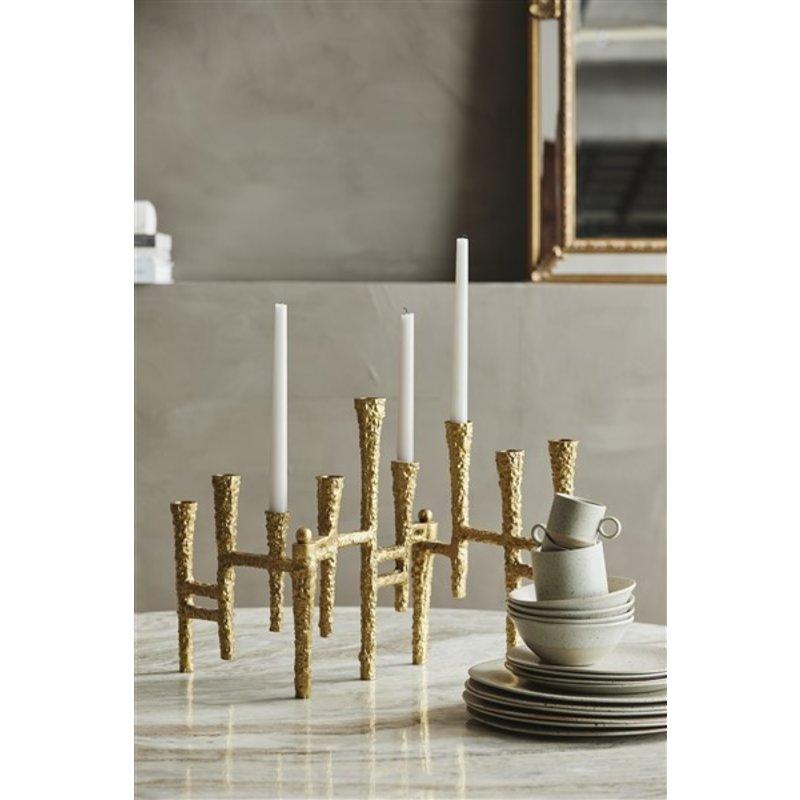 Nordal-collectie Kandelaar VAILA voor 9 kaarsen goud