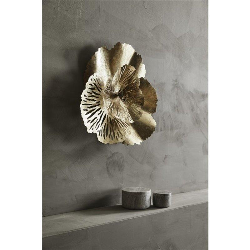 Nordal-collectie HOY wall art, golden flower