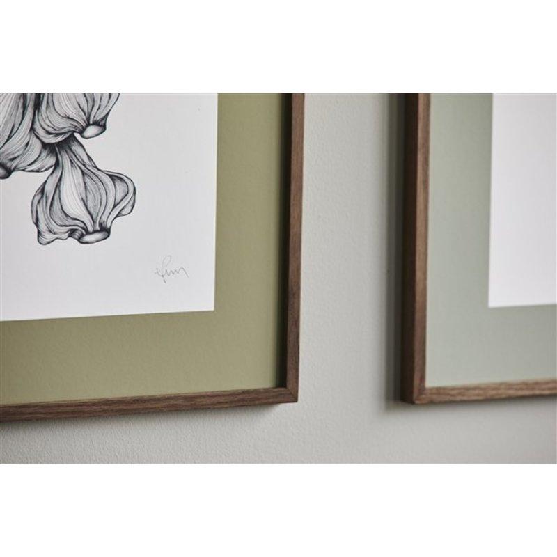 Nordal-collectie GARLIC illustration, dark oak frame