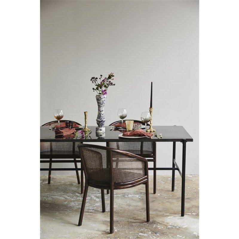 Nordal-collectie MOSSO dinner chair, dark brown