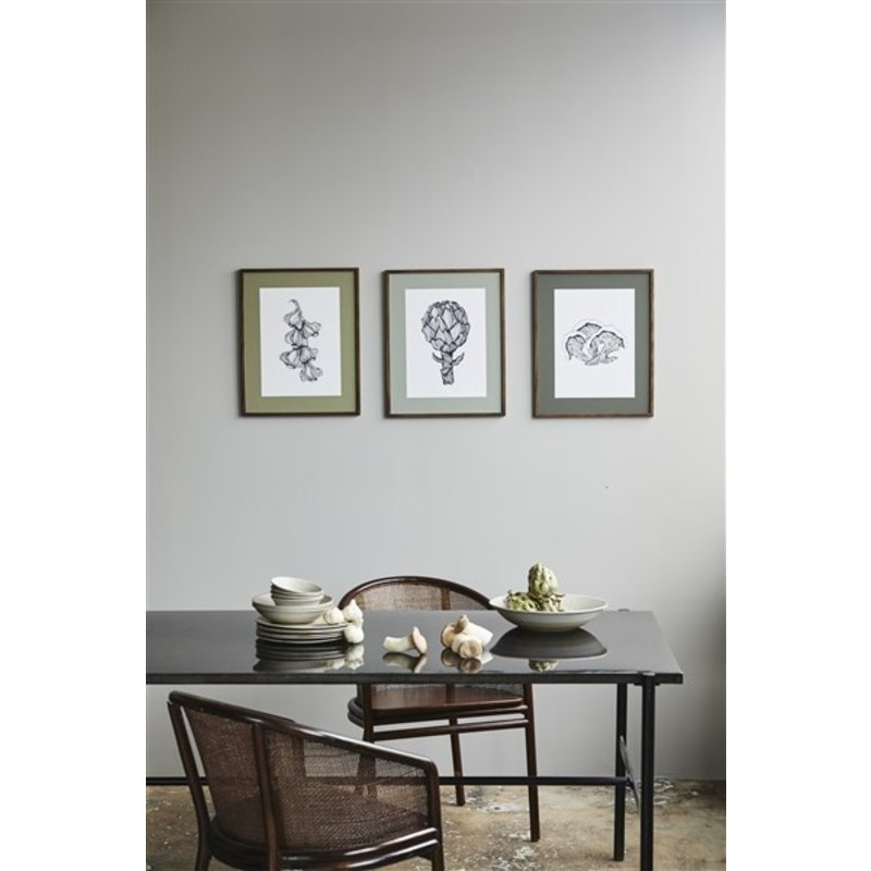 Nordal-collectie ARTICHOKE illustration, dark oak frame