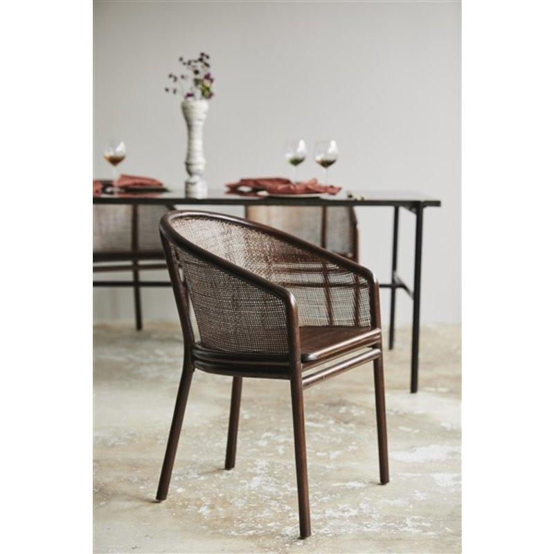 Nordal-collectie Vaas LUNGA keramiek zwart/wit
