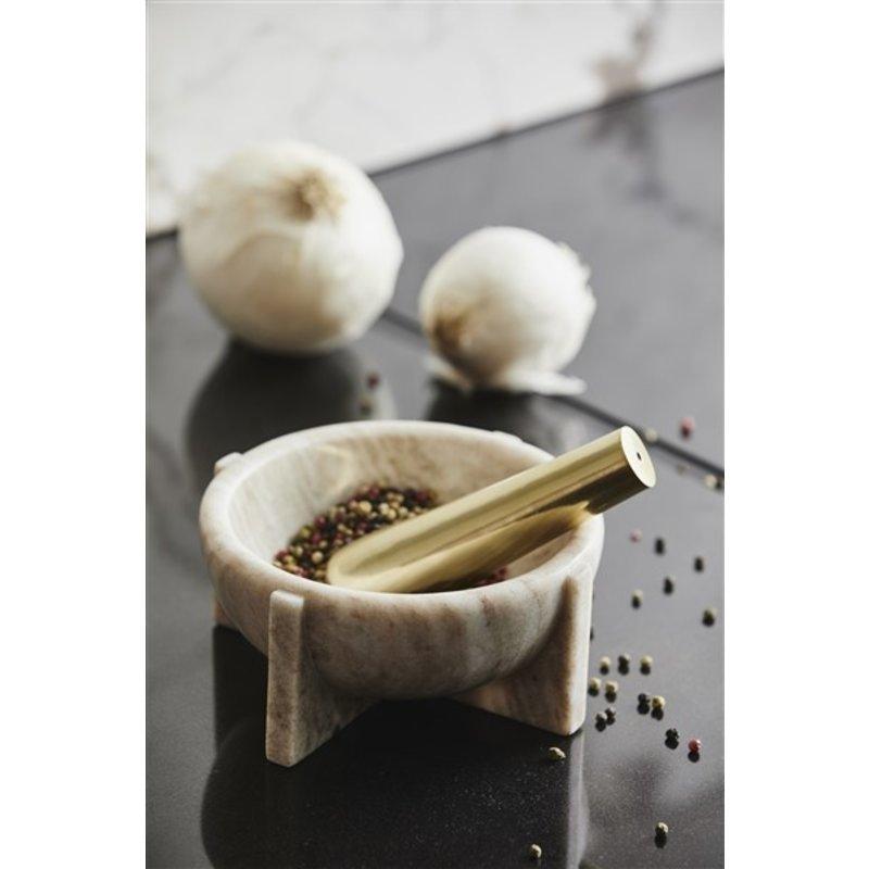 Nordal-collectie Vijzel ROCOTO marmer bruin