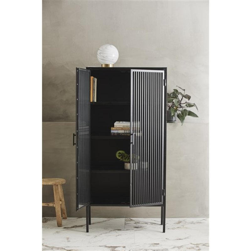 Nordal-collectie LIAO black cabinet, 2 doors, iron