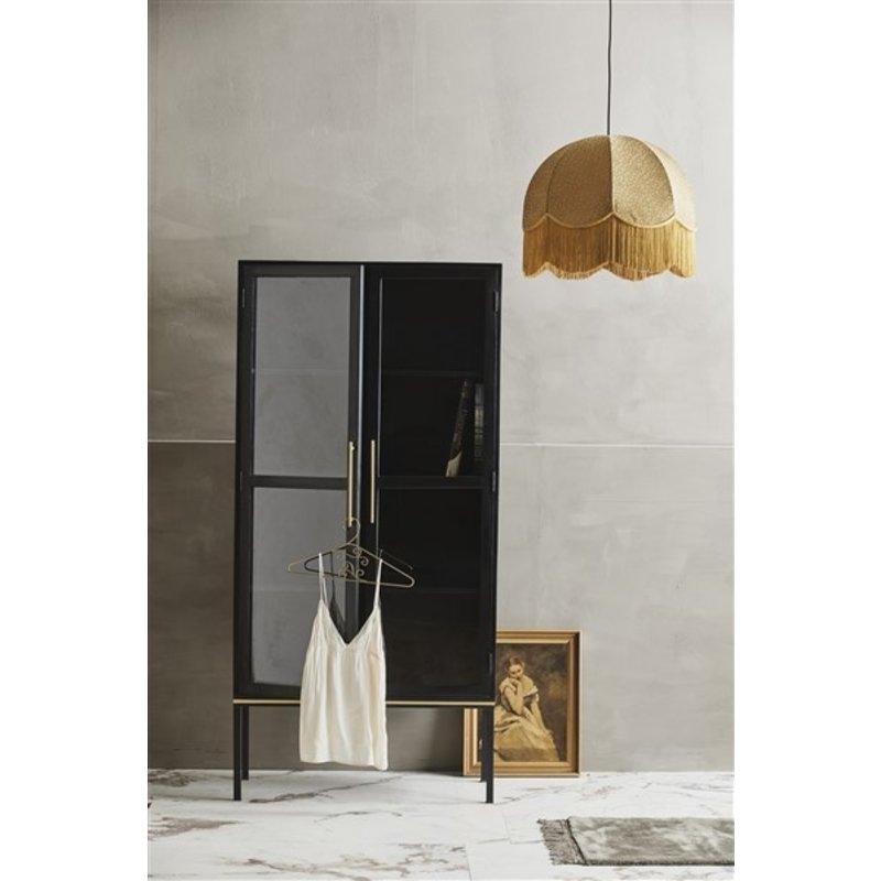 Nordal-collectie KOSHI black cabinet w/golden detail