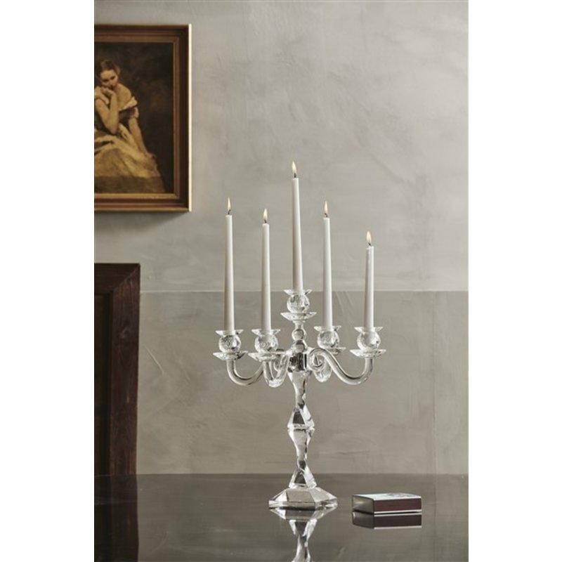Nordal-collectie Kandelaar FARA voor 5 kaarsen kristalglas