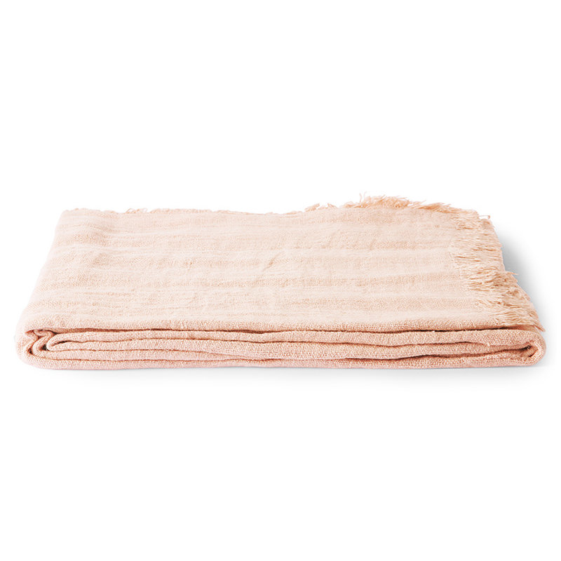 HKliving-collectie linnen table cloth salmon (140x220)