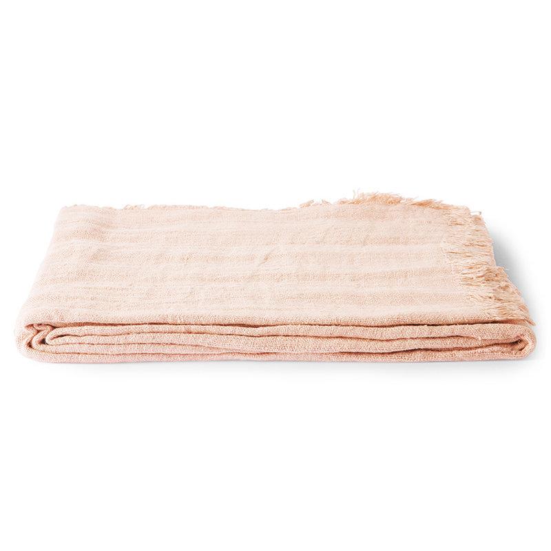 HKliving-collectie Linnen tafelkleed zalm