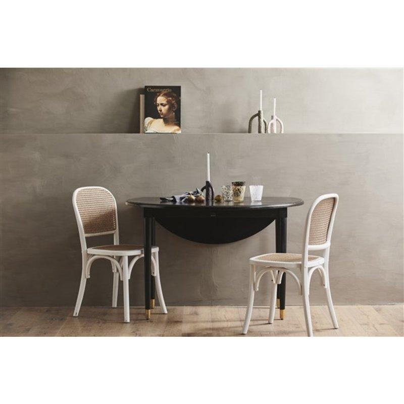 Nordal-collectie Inklapbare houten tafel AHR zwart