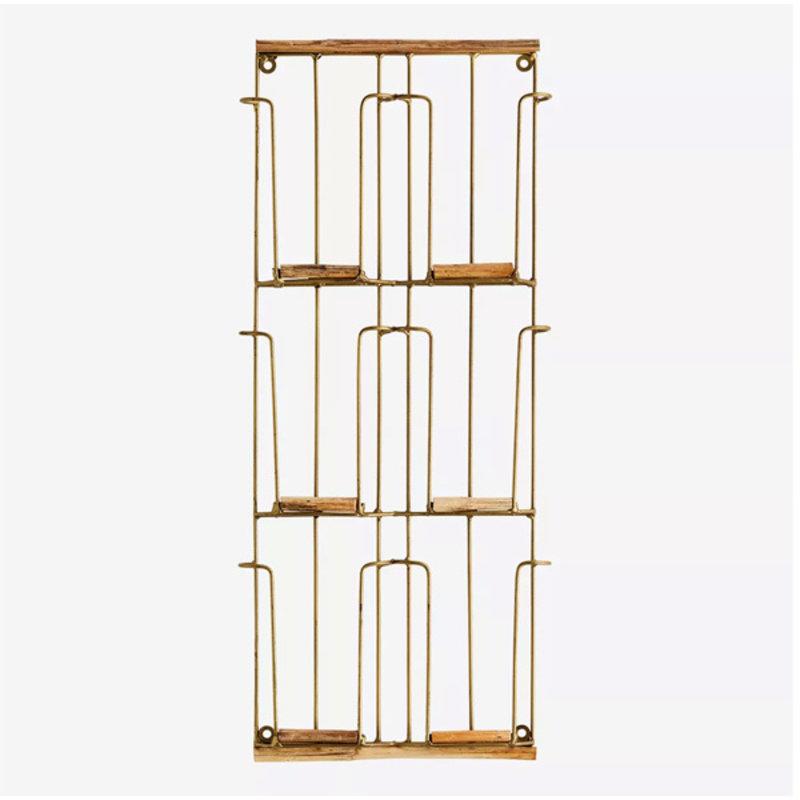 Madam Stoltz-collectie Kaartenrek antiek brass-S-