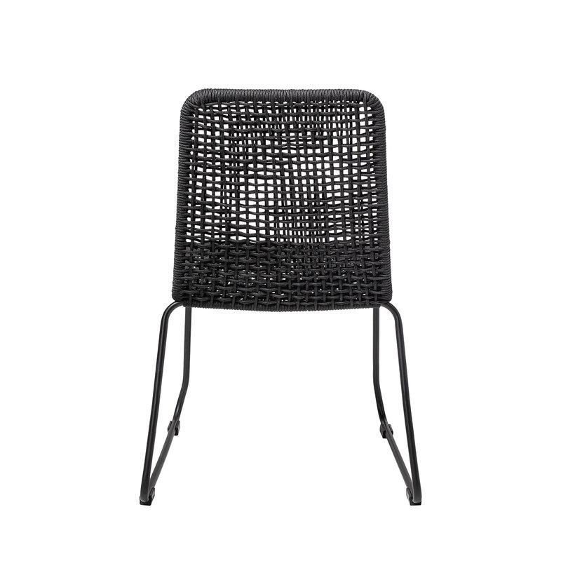 Bloomingville-collectie Mundo Dining Chair Black Metal