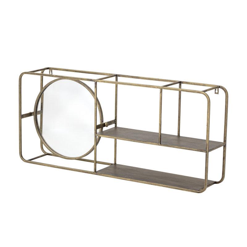 Bloomingville-collectie Osvald Mirror w/Shelf Gold Metal
