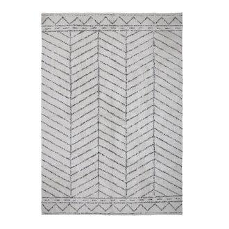 Bloomingville Vloerkleed Oiva naturel katoen met grafische print