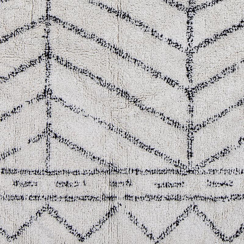 Bloomingville-collectie Vloerkleed Oiva naturel katoen met grafische print