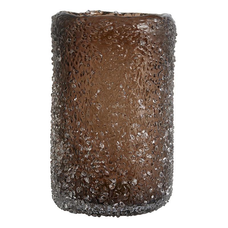 Nordal-collectie Vaas CLYDE bruin L