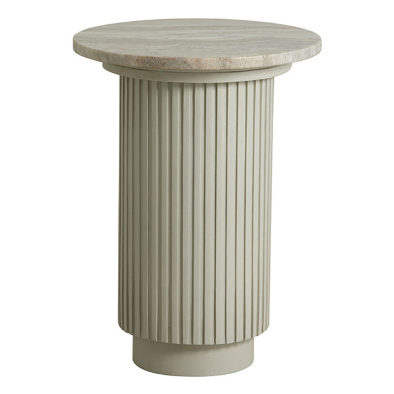 Nordal-collectie ERIE round side table, white marble top