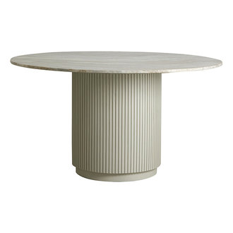Nordal ERIE round dining table white marble top