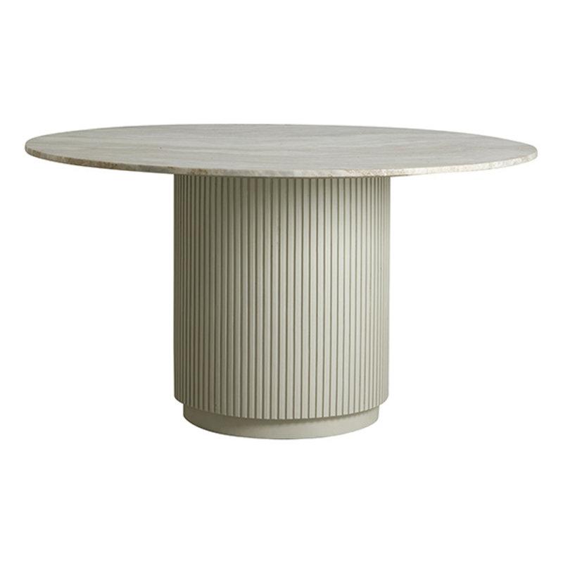 Nordal-collectie Ronde eettafel ERIE wit marmer