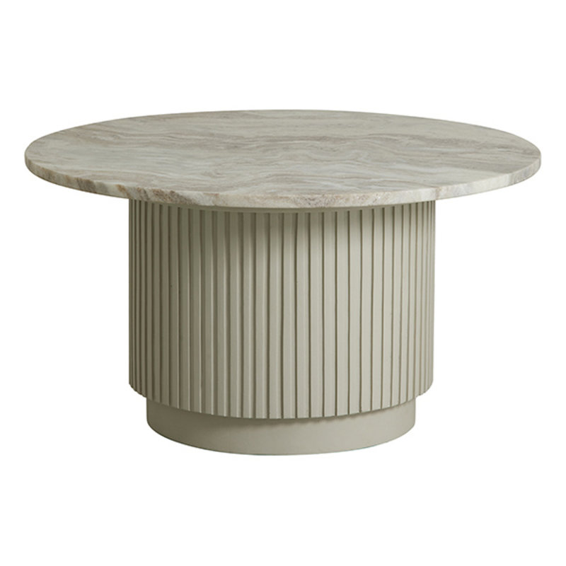 Nordal-collectie Ronde salontafel ERIE Ø75 wit marmer