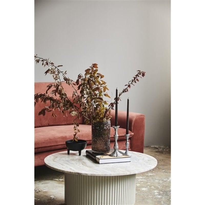 Nordal-collectie Ronde salontafel ERIE Ø90 wit marmer