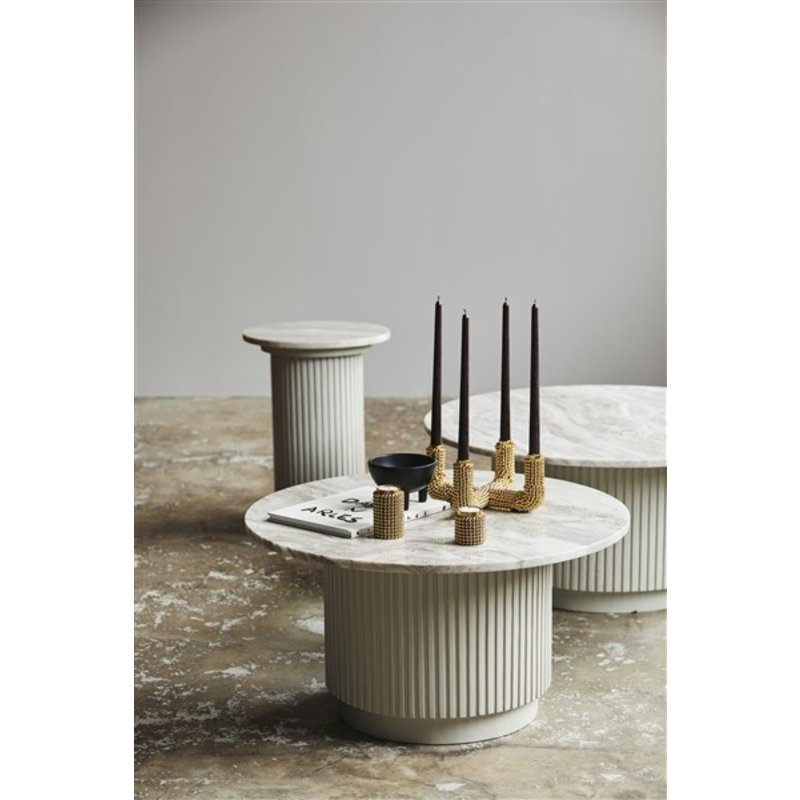 Nordal-collectie ERIE round coffee table white marble top