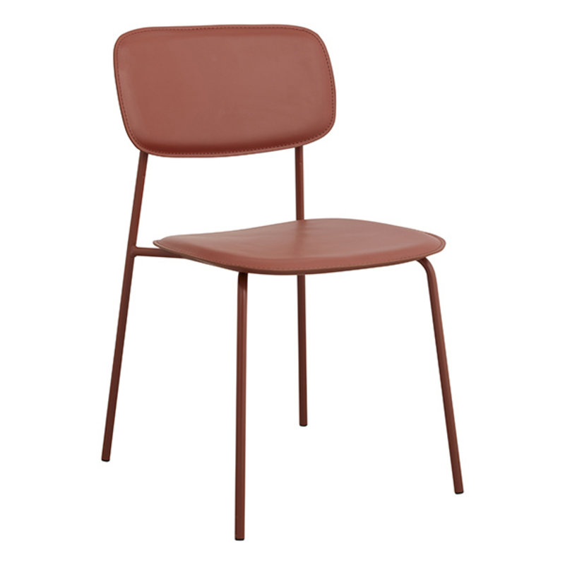 Nordal-collectie ESA dinning chair, rust red