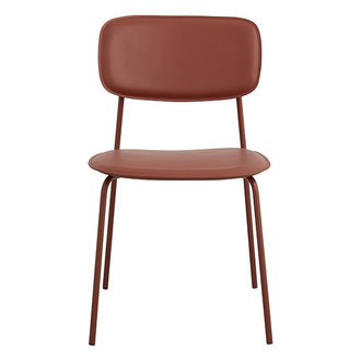 Nordal ESA dinning chair, rust red
