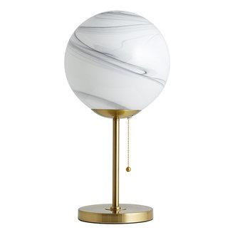Nordal Tafellamp FAUNA wit/goud hoog