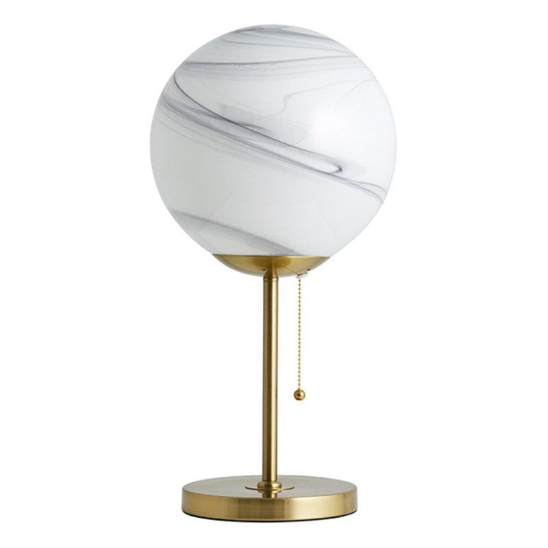 Nordal-collectie Tafellamp FAUNA wit/goud hoog