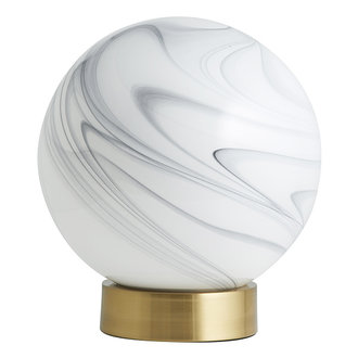Nordal Tafellamp FAUNA wit/goud laag
