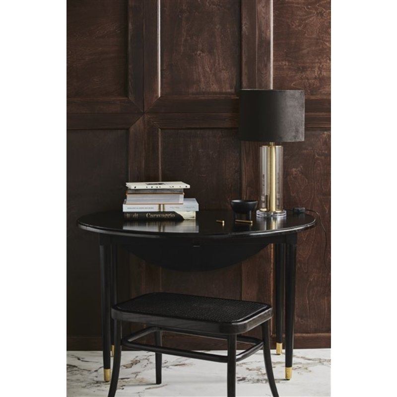 Nordal-collectie AHR round table, folding, black wood