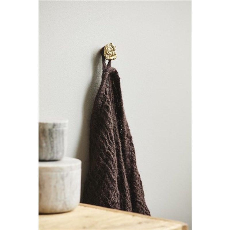Nordal-collectie Handdoek ARIES met franjes M linnen bruin