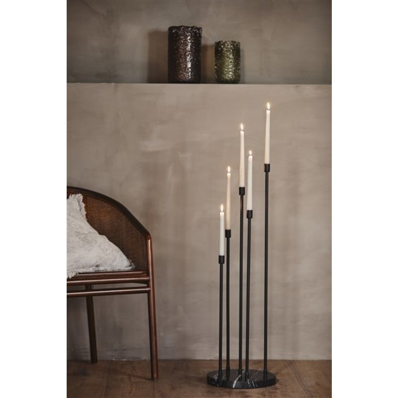 Nordal-collectie MILOS floor candle holder, black