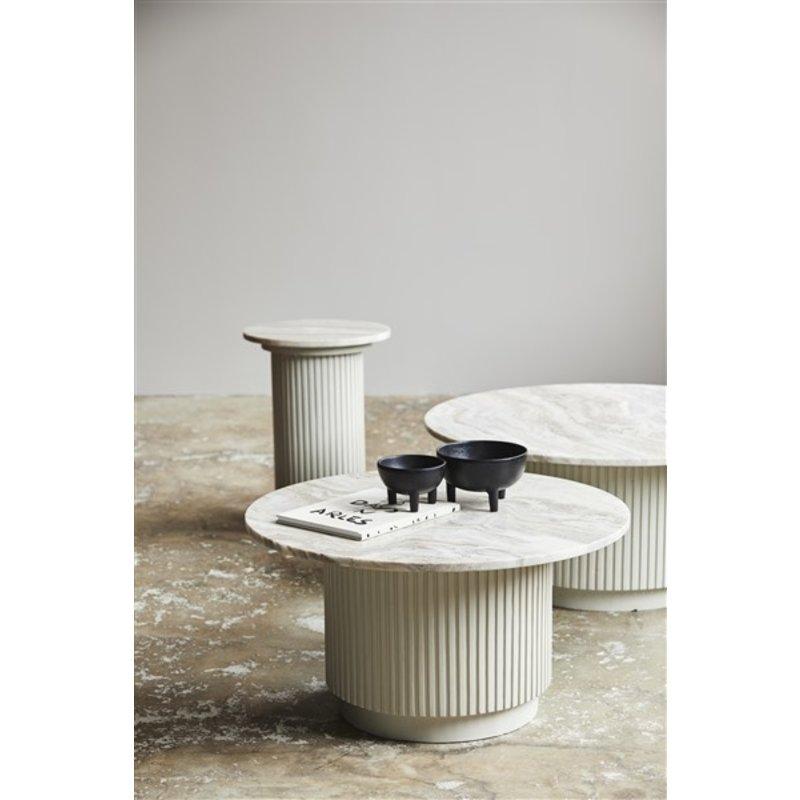 Nordal-collectie Ronde bijzettafel ERIE wit marmer