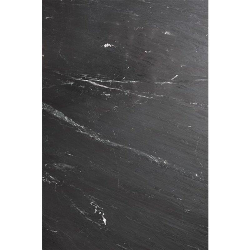 Nordal-collectie Ronde salontafel ERIE Ø90 zwart marmer