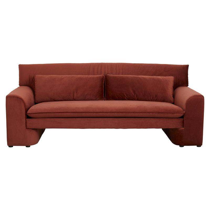 Nordal-collectie GEO sofa, rust red
