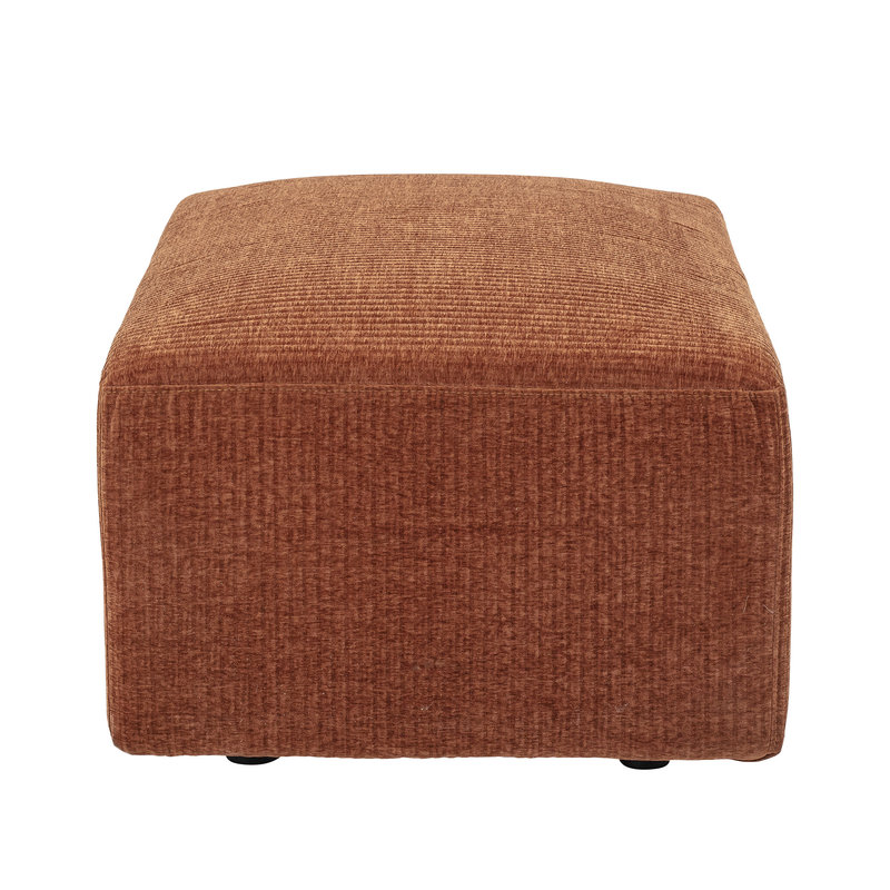 Bloomingville-collectie Petra Pouf Brown Polyester