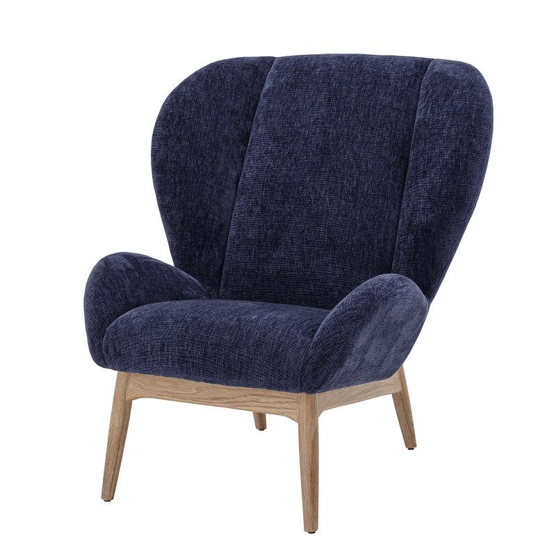 Bloomingville-collectie Lounge stoel  Eave blauw