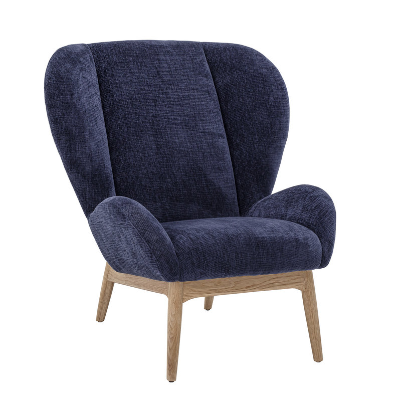 Bloomingville-collectie Eave Lounge Chair Blue Polyester