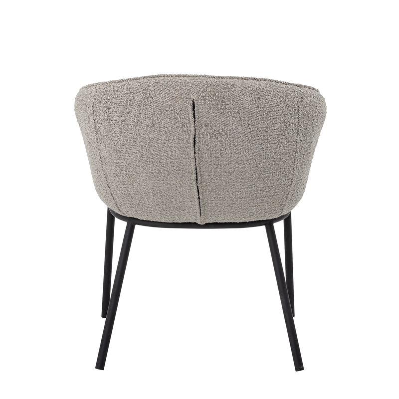 Bloomingville-collectie Cortone Dining Chair Grey Polyester
