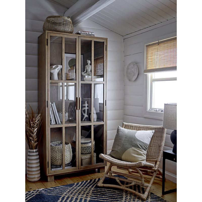 Bloomingville-collectie Lounge stoel Baz naturel rattan