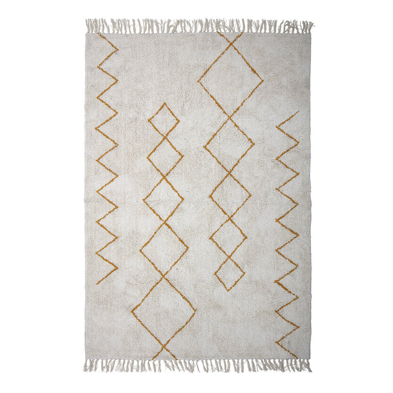 Bloomingville-collectie Huso Rug Yellow Cotton
